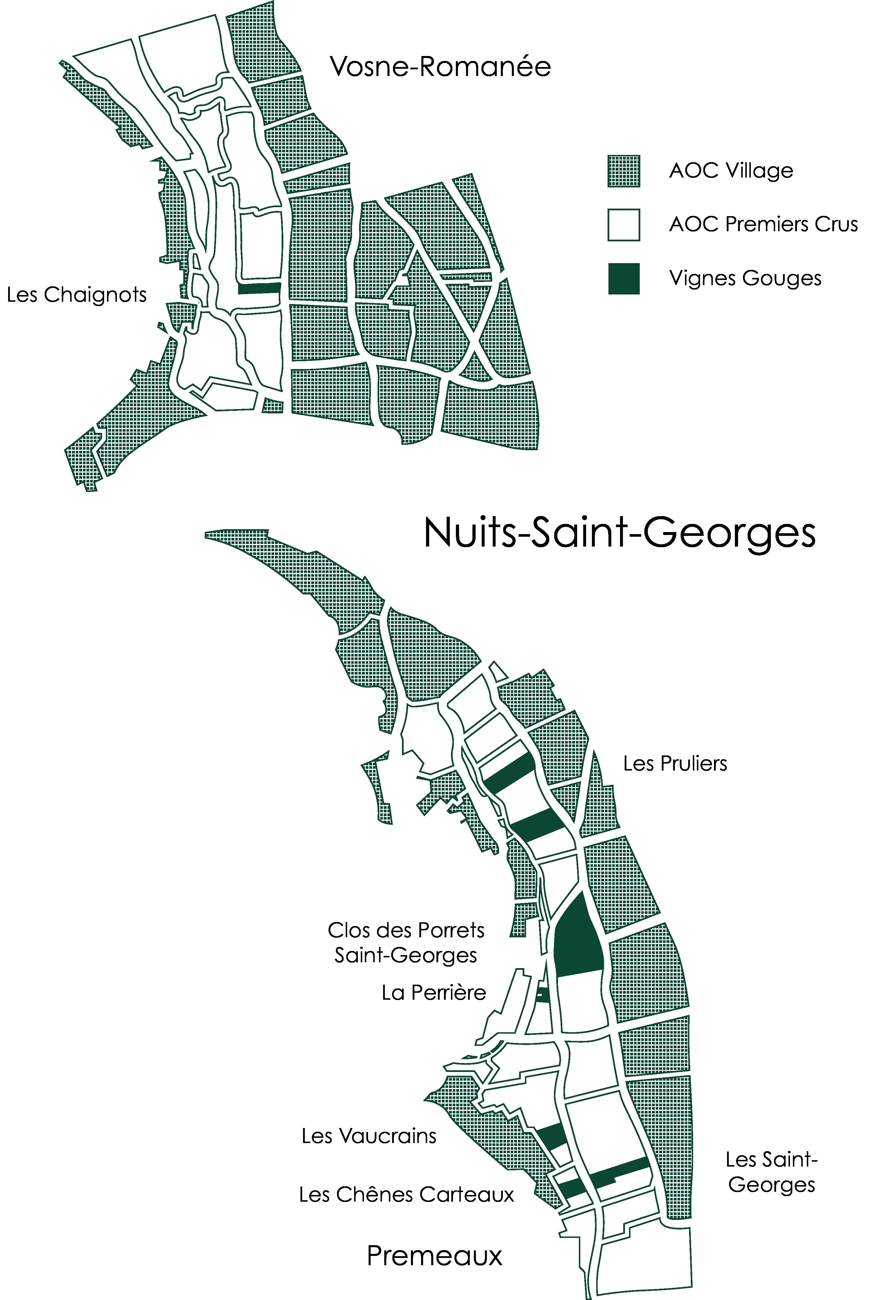 Carte des appellations Henri Gouges
